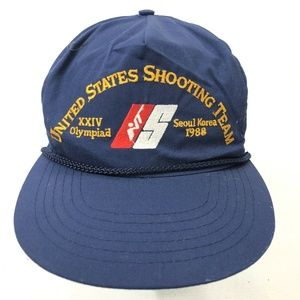 US SHOOTING TEAM 24 Olympics Korea 1988 Hat Vtg